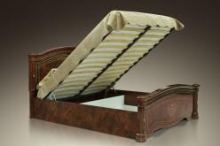 Карина -3 (орех) Кровать 2-х спальная с подъёмным механизмом, 2 спинки (Ярцево)