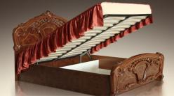 Карина -5 Кровать 2-х спальная с подъемным механизмом (Ярцево)