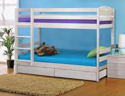 Двухъярусная кровать Кровать Двухъярусная массив (трансформер) с ящикам (Боровичи)