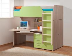 Кровать-чердак Набор для детской комнаты (Боровичи)