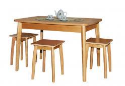 Обеденный стол Стол обеденный раздвижной с овальной крышкой на венской ноге (Боровичи)