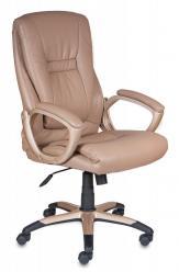 Кресло руководителя CH-875 [Иск. кожа мокко / пластик медь] (Бюрократ)