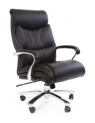 Кресло руководителя CHAIRMAN CH 401 [кожа+PU, черн.] (Chairman)