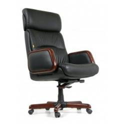 Кресло руководителя CHAIRMAN CH 417 [Черная кожа] (Chairman)