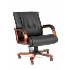 Кресло руководителя CHAIRMAN CH 653 М [Черная кожа] (Chairman)