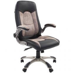 Кресло руководителя CHAIRMAN СН 439 [Черная искусственая кожа / Бежевая микрофибра] (Chairman)