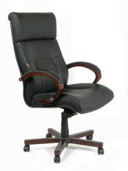 Офисное кресло CHAIRMAN CH 421 [Черная кожа] (Chairman)