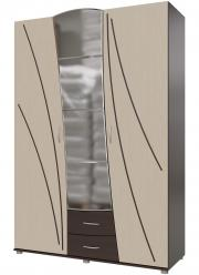 Шкаф распашной 4-3801 [Венге / Береза] (Гранд Кволити)
