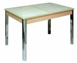 Кухонный стол Бомбей-2 (ноги хром) (Кубика)