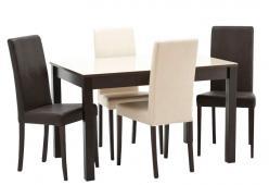 Обеденная группа для столовой и гостиной Обеденная группа Нагано-2 + 4 шт Неаполь [Стекло песочное / Венге] (Кубика)
