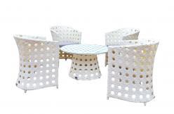 Комплект садовой мебели KM-0009 [Светлый иск. ротанг крупное плетение] (Kvimol)