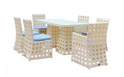Комплект садовой мебели KM-0013 [Светлый иск. ротанг крупное плетение] (Kvimol)