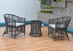 Комплект садовой мебели КМ0026 [Коричневый иск. ротанг] (Kvimol)