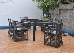 Комплект садовой мебели КМ0034 [Коричневый иск. ротанг] (Kvimol)