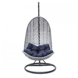 Подвесное кресло KM-1011 [Серый иск. ротанг] (Kvimol)