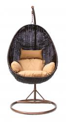Подвесное кресло KM-1015 [Темно-коричневый иск. ротанг] (Kvimol)