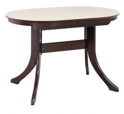Обеденный стол МАРСЕЛЬ 120/80-КМ (овальный с иск.камнем) (Лидер)