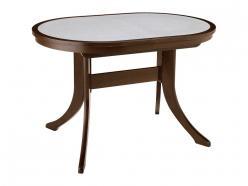 Обеденный стол «МАРСЕЛЬ 120/80-ОВК» (овальный с иск.камнем) (Лидер)