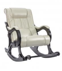 Кресло-качалка Лидер модель 77 экокожа с подножкой (013.0077) ()