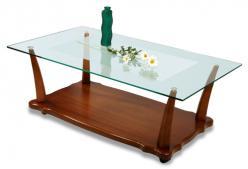 Журнальный столик Квартет-6М (полка МДФ) (Мебелик)