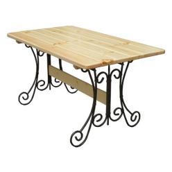 Дачный стол Стол кованый Гнутик (Лак) (МФДМ)