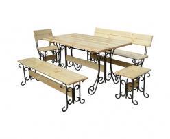 Комплект садовой мебели Гнутик-К1 [Массив сосны (лак)] (МФДМ)