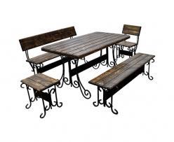 Комплект садовой мебели Гнутик-К2 (под старину) [Массив сосны под старину] (МФДМ)
