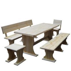Комплект садовой мебели Комфорт (лак) К1 [Массив сосны (лак)] (МФДМ)