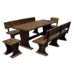 Комплект садовой мебели Комфорт (мореный) К2 [Массив сосны мореный] (МФДМ)