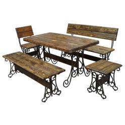 Комплект садовой мебели Лира К1 [Массив сосны под старину] (МФДМ)