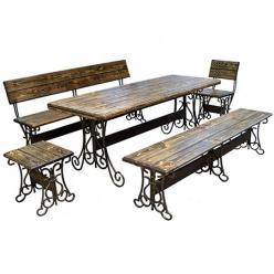 Комплект садовой мебели Лира-К4 (под старину) [Массив сосны под старину] (МФДМ)