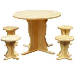 Комплект садовой мебели Магнолия деревянная (лак) К1 [Массив сосны (лак)] (МФДМ)