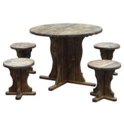 Комплект садовой мебели Магнолия деревянная (под старину) К4 [Массив сосны под старину] (МФДМ)