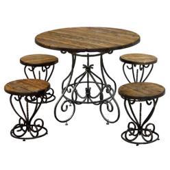 Комплект садовой мебели Магнолия-К2 (под старину) [Массив сосны под старину] (МФДМ)
