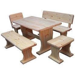 Комплект садовой мебели Московия (лак) К1 [Массив сосны (лак)] (МФДМ)