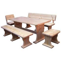 Комплект садовой мебели Московия (лак) К2 [Массив сосны (лак)] (МФДМ)