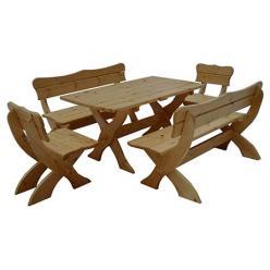 Комплект садовой мебели Сказка (лак) К1 [Массив сосны (лак)] (МФДМ)