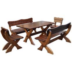 Комплект садовой мебели Сказка (мореная) К2 [Массив сосны мореный] (МФДМ)