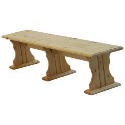 Лавочка Комфорт (лак) Скамья деревянная без спинки (МФДМ)
