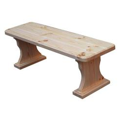 Лавочка Московия (лак) Скамья деревянная без спинки (МФДМ)