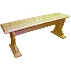 Лавочка Уют (лак) Скамья деревянная без спинки (МФДМ)
