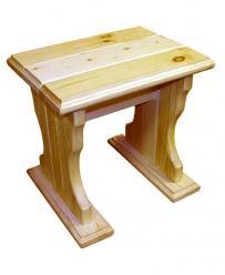 Садовый табурет Уют (лак) Табурет деревянный [Массив сосны (лак)] (МФДМ)
