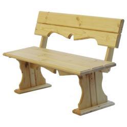 Скамейка Комфорт (лак) Скамья деревянная с фигурной спинкой [Массив сосны (лак)] (МФДМ)