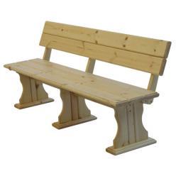 Скамейка Комфорт (лак) Скамья деревянная со спинкой (МФДМ)