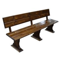 Скамейка Комфорт (мореный) Скамья деревянная со спинкой (МФДМ)