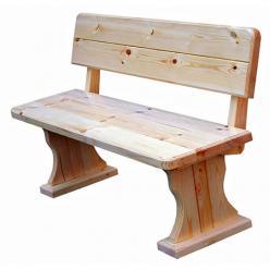 Скамейка Московия (лак) Скамья деревянная со спинкой (МФДМ)