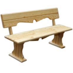 Скамейка Уют (лак) Скамья деревянная с фигурной спинкой [Массив сосны (лак)] (МФДМ)