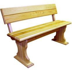 Скамейка Уют (лак) Скамья деревянная со спинкой (МФДМ)