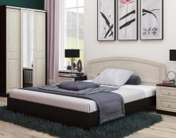 Кровать Кровать Сибирь 1600 [Венге Магия / Выбеленный дуб] (РОСТ)