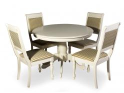 Обеденная группа для столовой и гостиной Обеденная группа OP-T4EX и 4 стула CH-SC [BUTTER WHITE] (Mr. Kim)